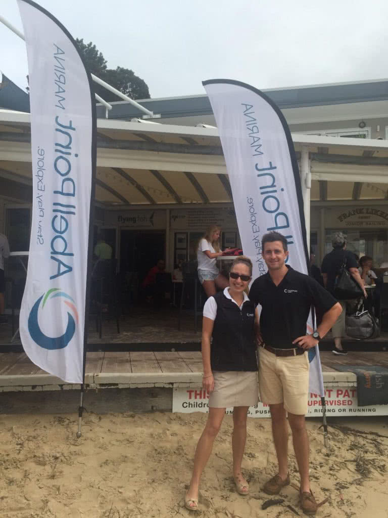 Luke & Amy representing Abell Point at Middle Harbour Yacht Club