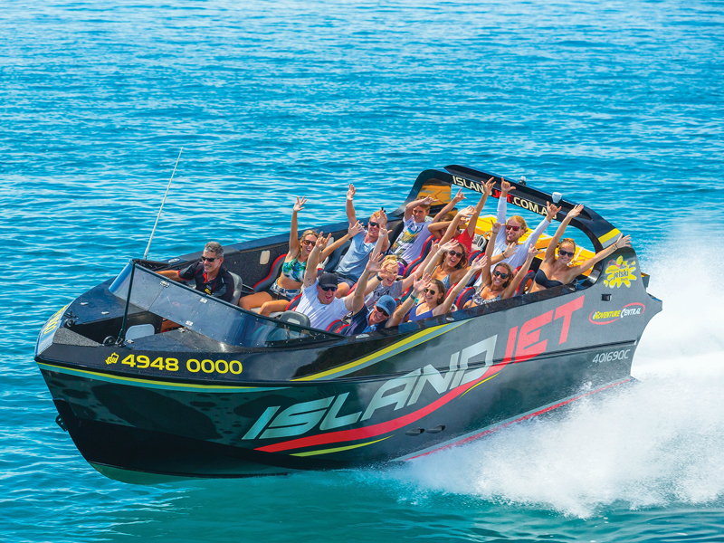 Island Jet Boating with guests on board