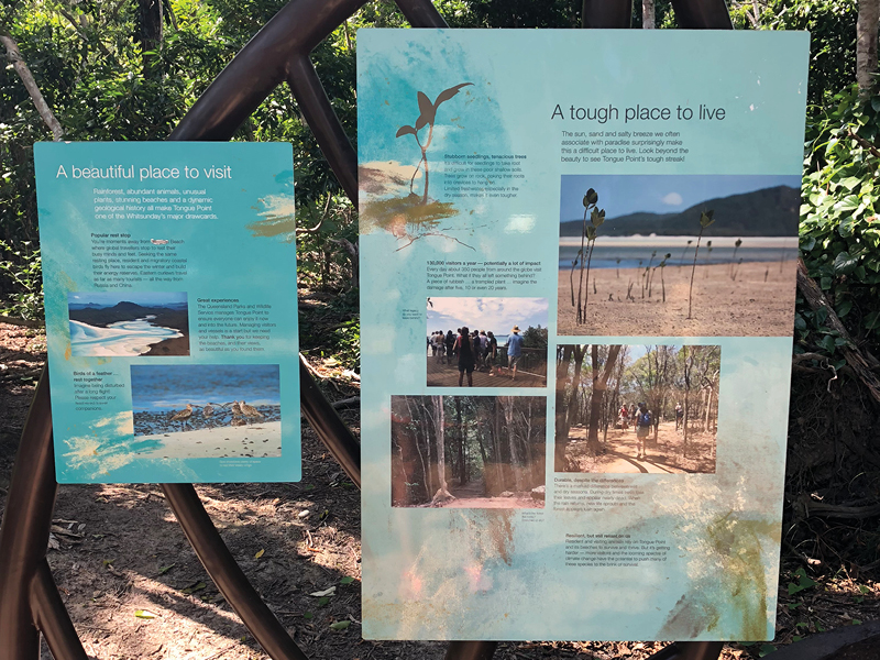 Ngaro Sea Trail at Nara Inlet signage