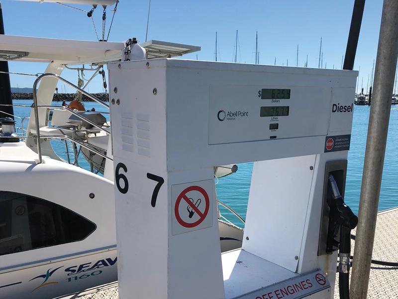 Fuel facilities at Coral Sea Marina Resort