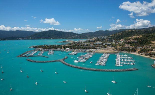 Coral Sea Marina Resort Aerial