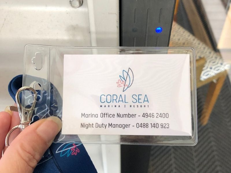 Coral Sea Marina Access Card