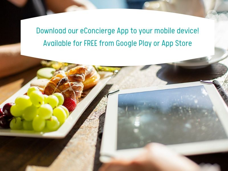 Download our eConcierge App to your mobile device!