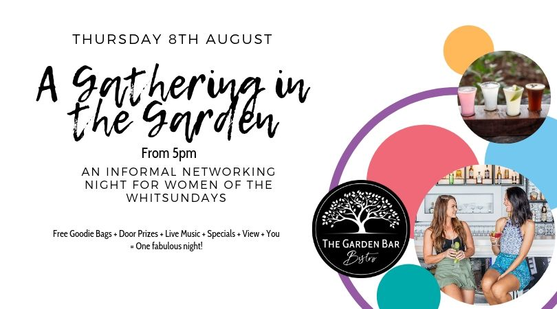 A Gathering in the Garden women's networking night at The Garden Bar Bistro