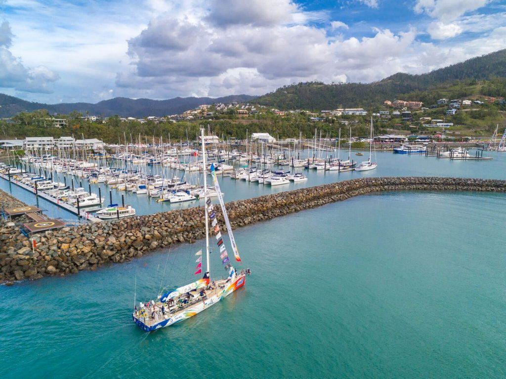 The Clipper Round the World Yacht Race crew and vessels arriving into Coral Sea Marina in 2018