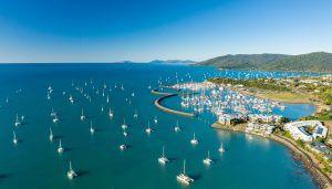 Aerial photo of Coral Sea Marina Resort