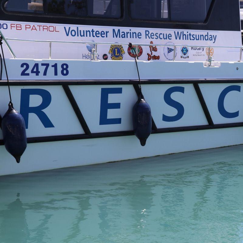 Whitsundays' Volunteer Marine Rescue vessel at Coral Sea Marina