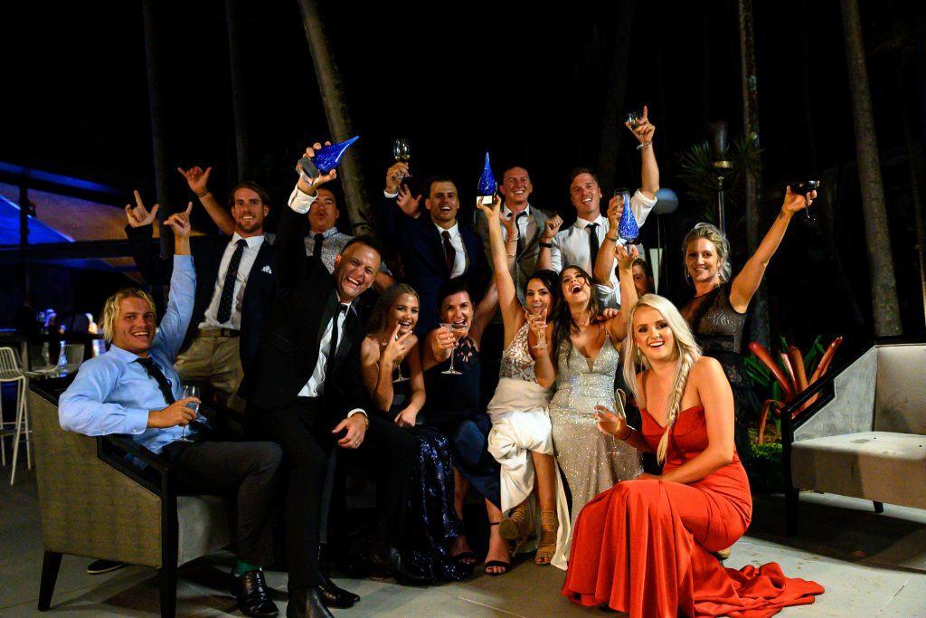 The Red Cat Adventures team celebrating three 2019 Whitsunday Tourism Awards