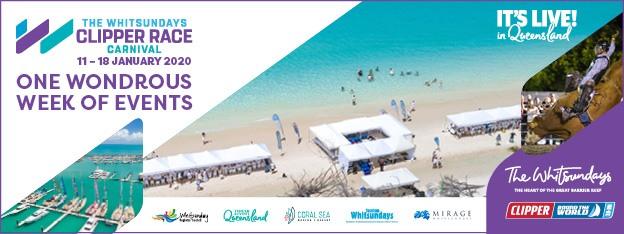 Whitsundays Clipper Race Carnival banner advertisement