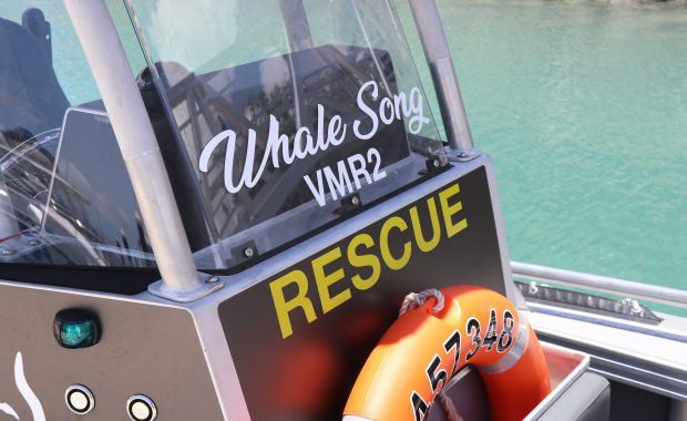 Whale Song VMR 2 vessel operated by Whitsundays Maritime Rescue at Coral Sea Marina