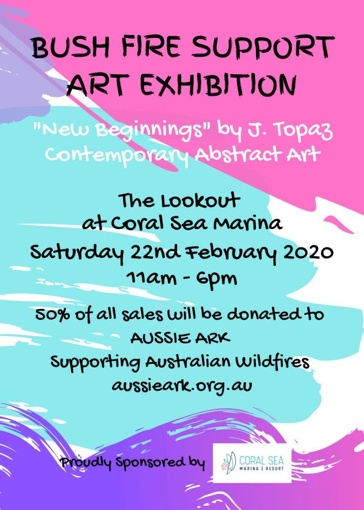 Art Exhibition for Bushfire Support flyer