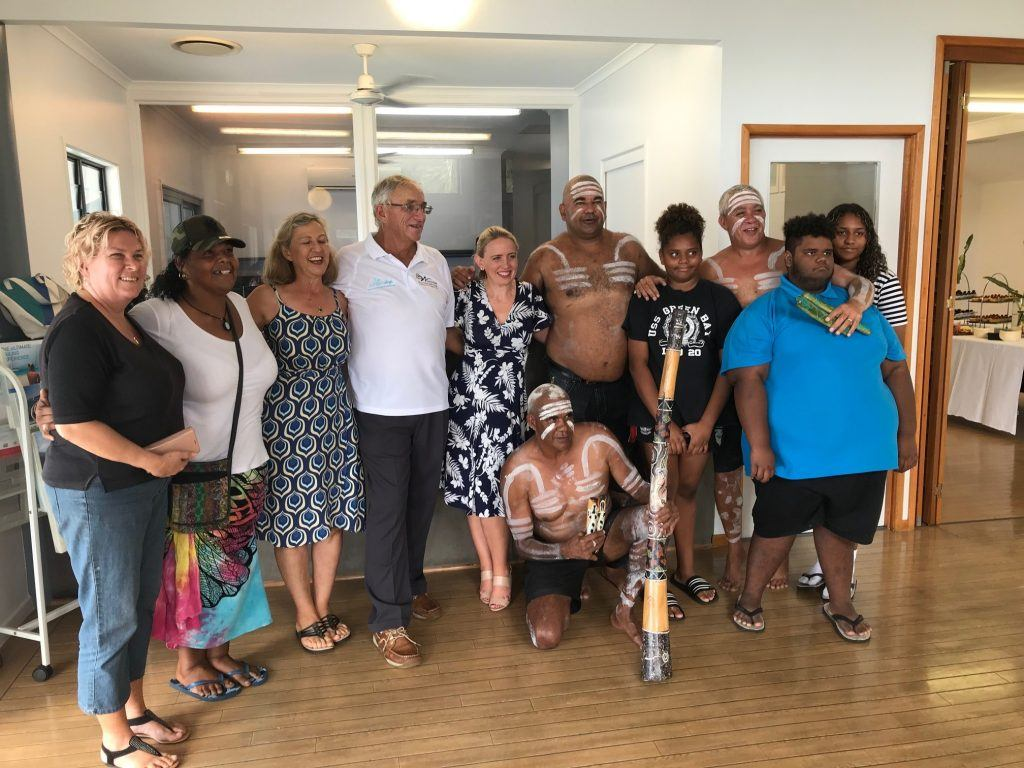 The staff of the Whitsundays' Ngaro Indigenous Tour with Tourism Whitsundays at the announcement of the new tour