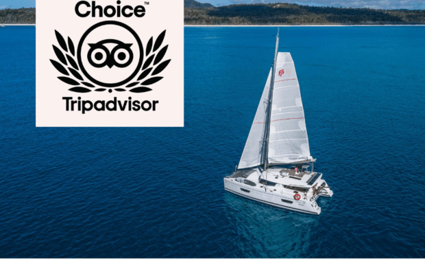 Cumberland Yacht Charters in the Whitsundays sailing