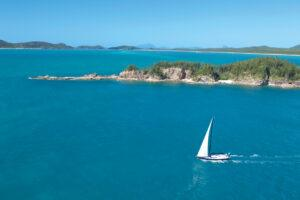 Sailing Boat in the Whitsundays near Tongue Point