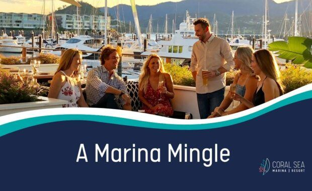 A Marina Mingle networking night promotional image