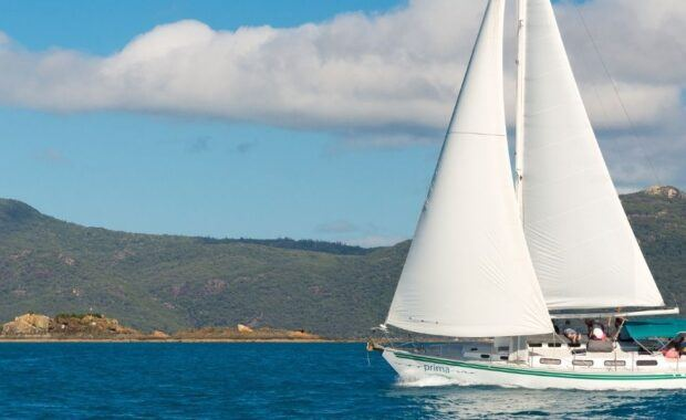 Luxury sailing yacht monohull Prima, in the Whitsundays
