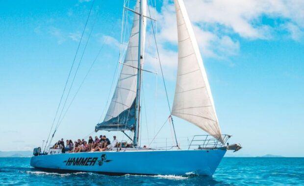 Sailing Yacht, Hammer, in the Whitsundays