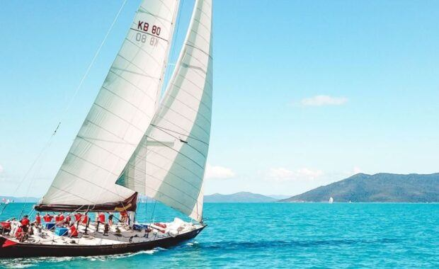 Sailing Maxi Yacht, Condor, in the Whitsundays