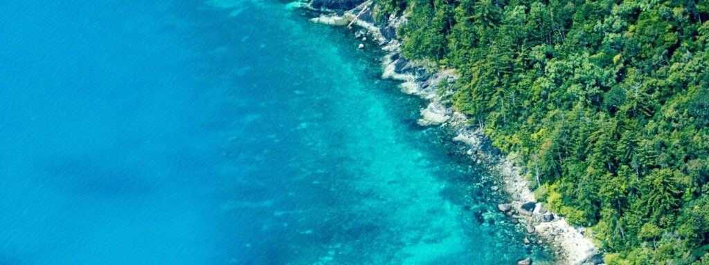 Whitsunday Islands from the air