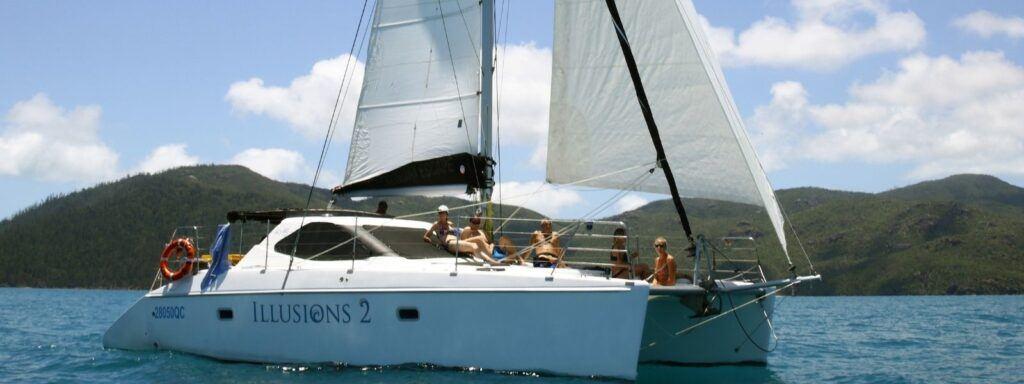 Illusions II sailing yacht in the Whitsundays
