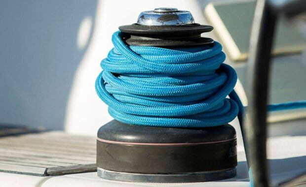 Winch on sailing vessel