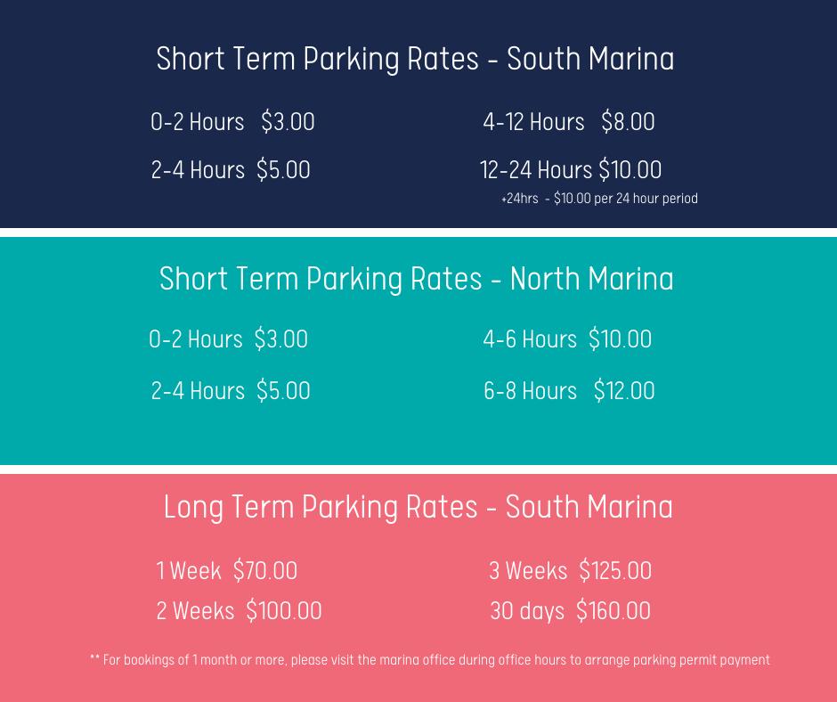 Coral Sea Marina Parking Rates