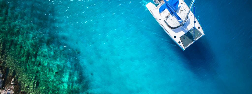 catamaran in tropical waters