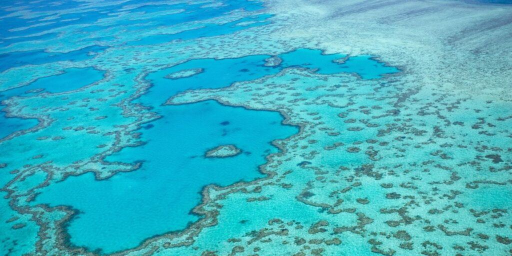 The Great Barrier Reef and Heart Reef