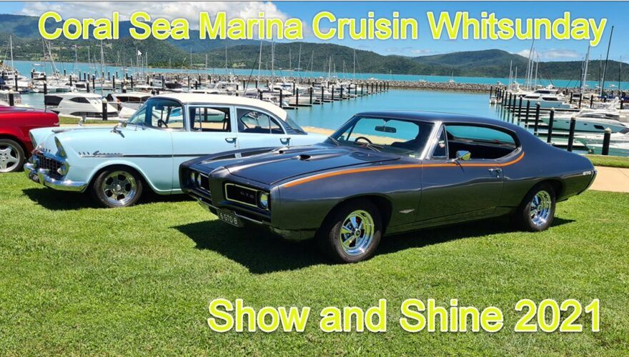 Vintage Cars on display at Coral Sea Marina with the Whitsundays Cruising Car Club