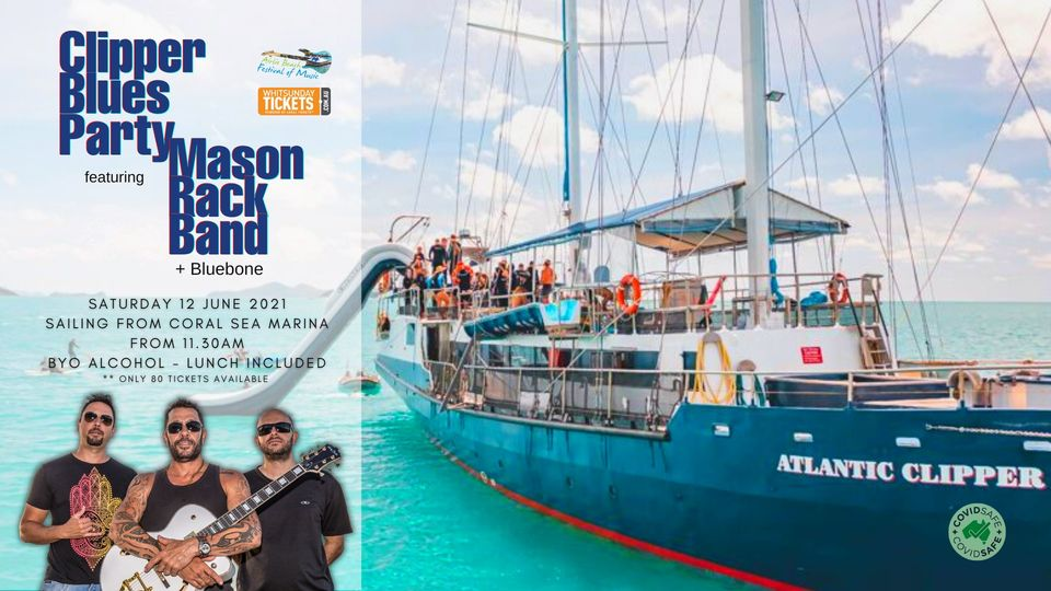 The Atlantic Clipper vessel promoting the Clipper Blues Party with Mason Rack band and Bluetone