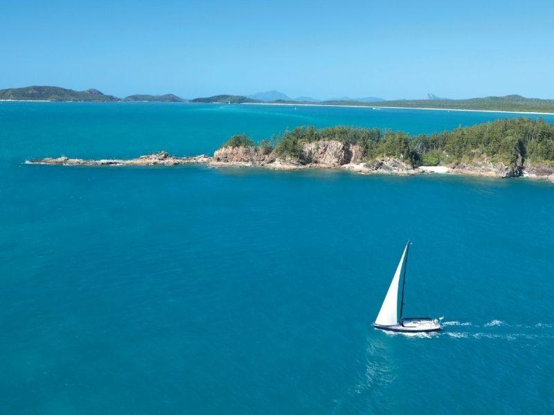 A sailing vessel monohull in the Whitsundays