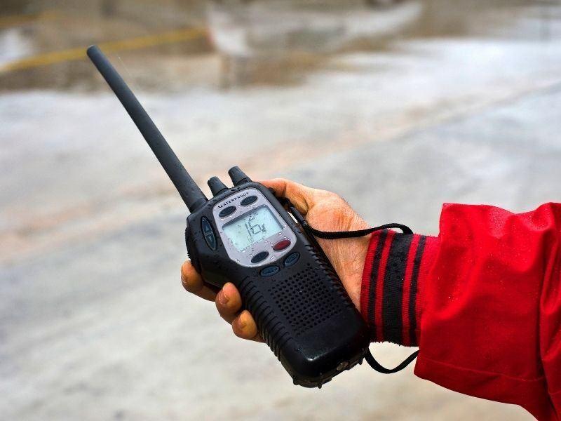 A handheld marine VHR radio