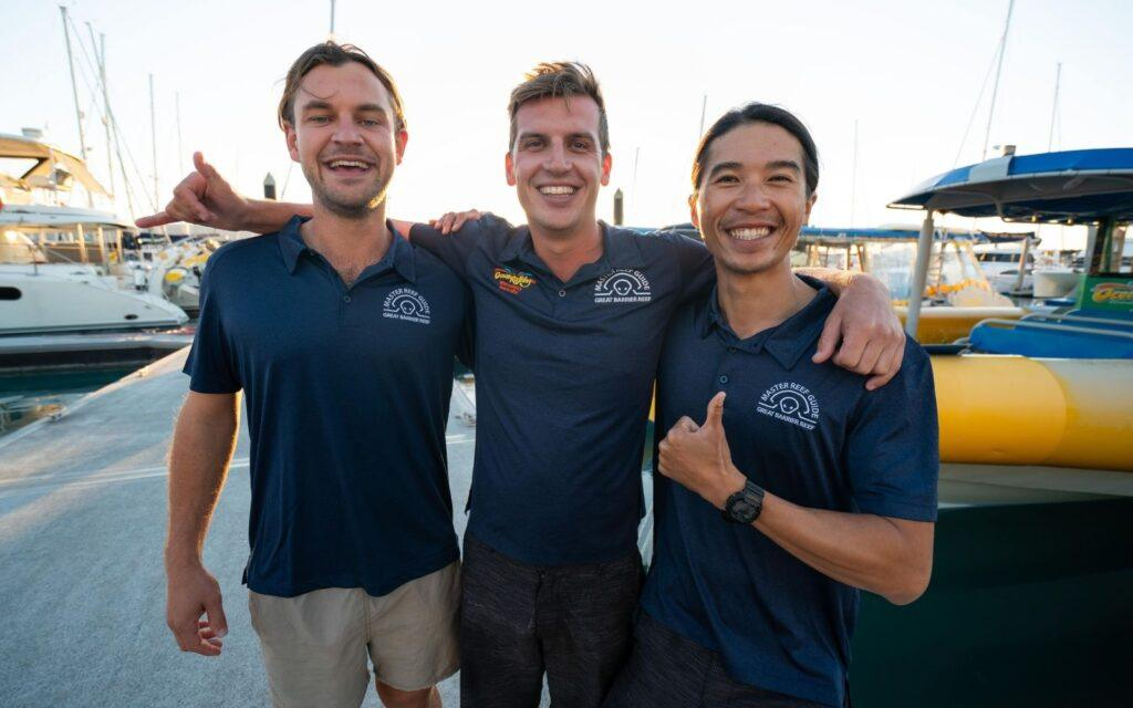 Toby James and Taylor, Master Reef Guides at Ocean Rafting Whitsundays
