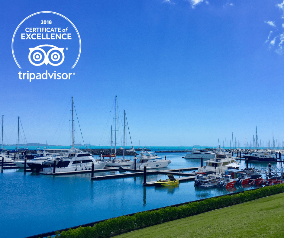 TripAdvisor Certificate of Excellence awarded to Abell Point Marina!