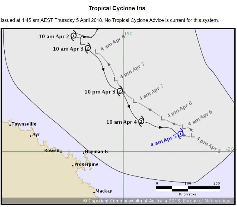 Cyclone warning cancelled for Whitsundays – 05.04.18