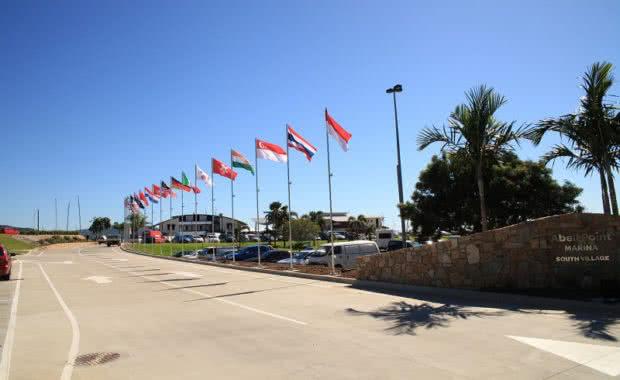 Coral Sea Marina Resort Entrance