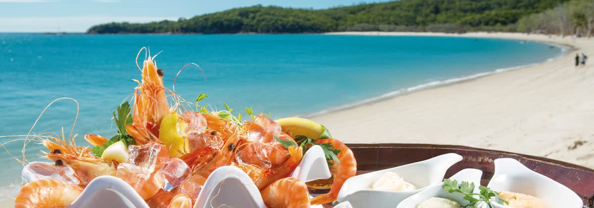 Treat yourself this Christmas to a seafood platter on arrival at Abell Point.